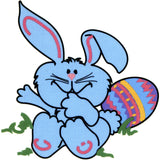 Blue Bunny Temporary Tattoo 2x2