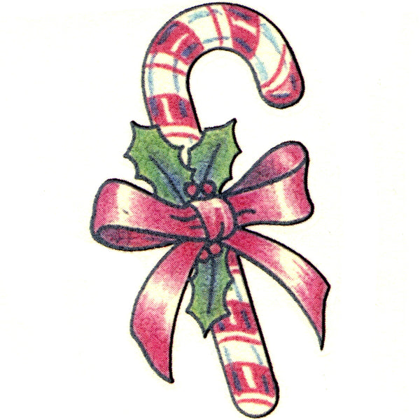 Candy Cane Temporary Tattoo 2x2