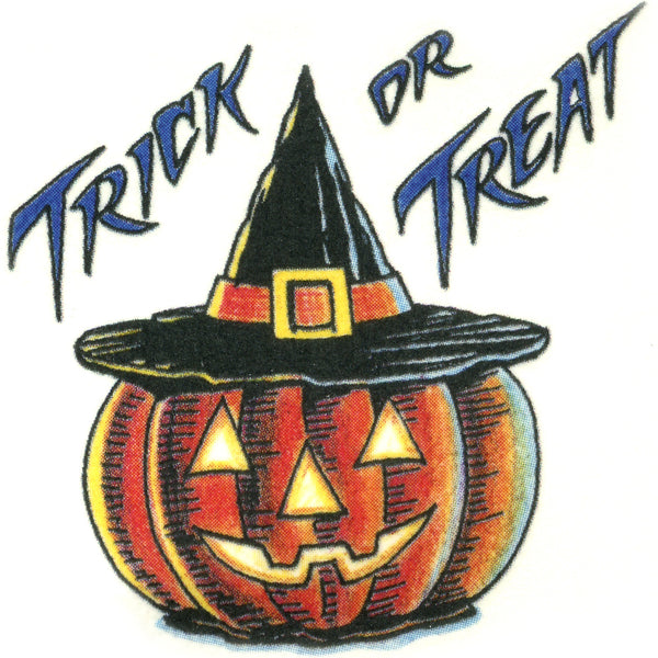 Trick or Treat Temporary Tattoo 2x2