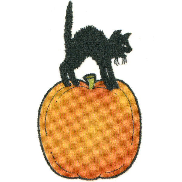 Cat on Pumpkin Temporary Tattoo 2x2