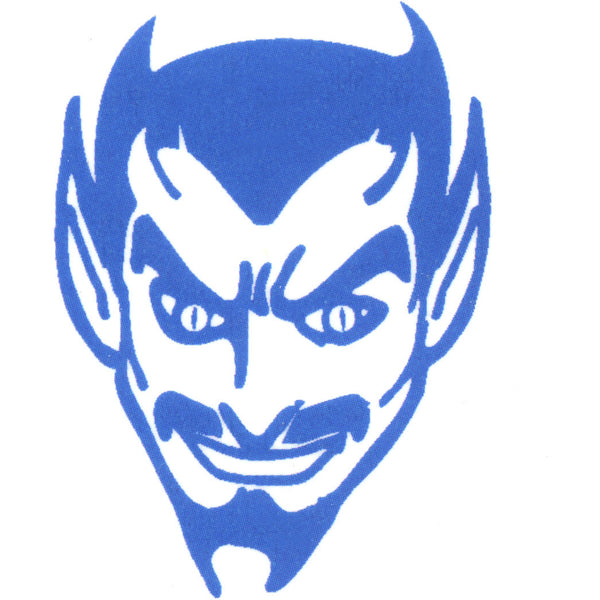 Blue Devil Temporary Tattoo 2x2
