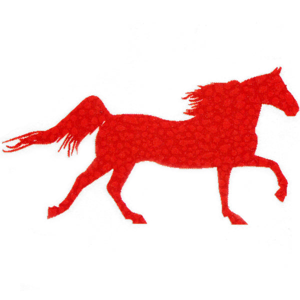 GALLOPING RED HORSE Temporary Tattoo 2x2