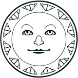TRIBAL SUN No. 3 Temporary Tattoo 2x2