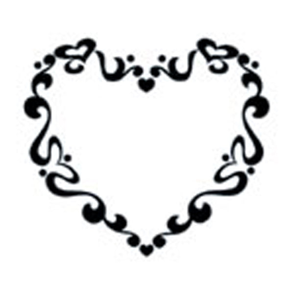 FUNKY HEART Temporary Tattoo 2x2