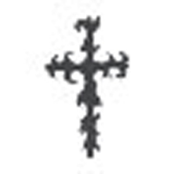 TRIBAL CROSS Temporary Tattoo 2x2