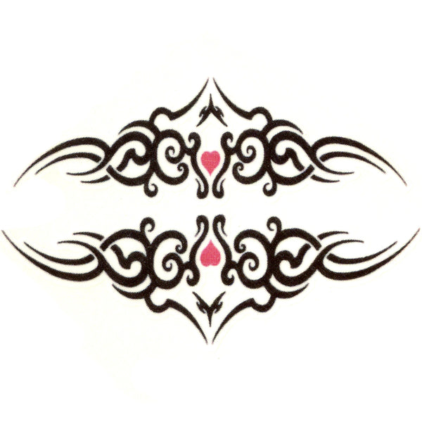 Tribal with Heart Temporary Tattoo 2x2