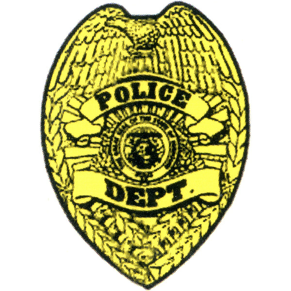 POLICE SHIELD Temporary Tattoo 2x2