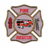 FIREMAN'S BADGE Temporary Tattoo 2x2