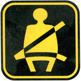 SAFETY FIRST - SEAT BELT GUY Temporary Tattoo 2x2