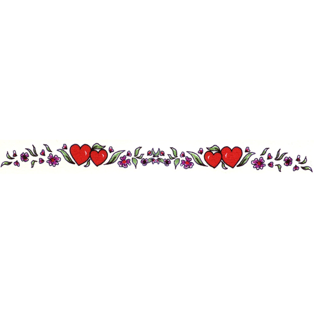 73767669d Hearts Flower Arm Band Temporary Tattoo 1x6.5 – BodyCandy