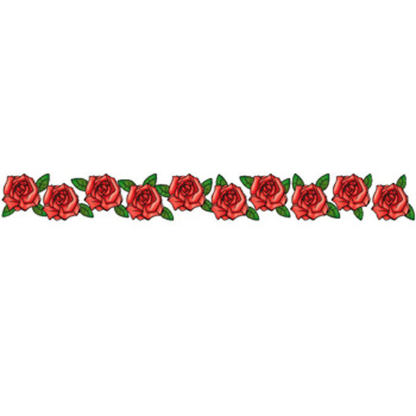 BAND OF ROSES Arm Band Temporary Tattoo 1.5x9