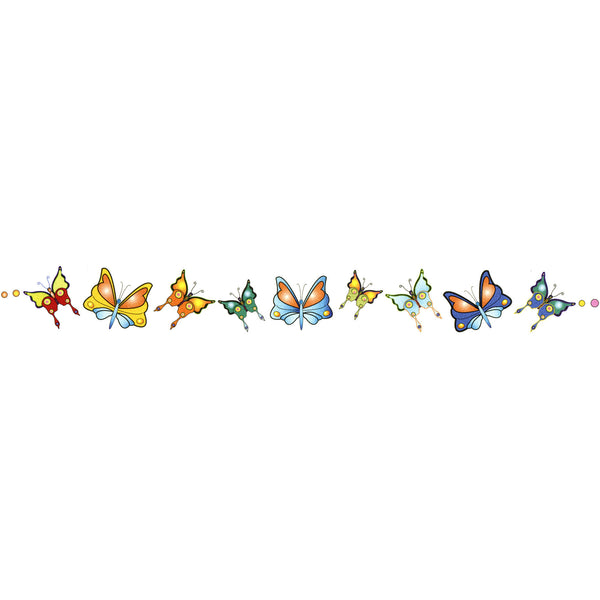 BUTTERFLY DESIGN No. 1 Arm Band Temporary Tattoo 1.5x9