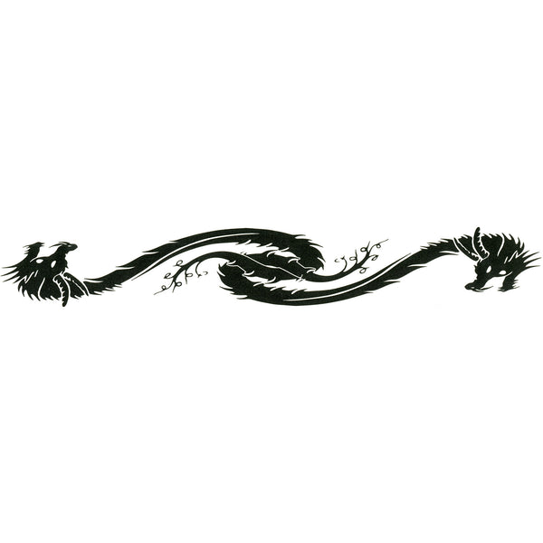DRAGON DESIGN No. 2 Arm Band Temporary Tattoo 1.5x9