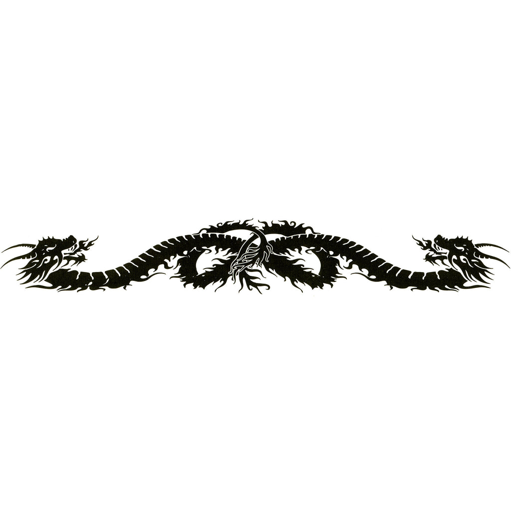 806172528 DRAGON DESIGN No. 3 Arm Band Temporary Tattoo 1.5x9 – BodyCandy