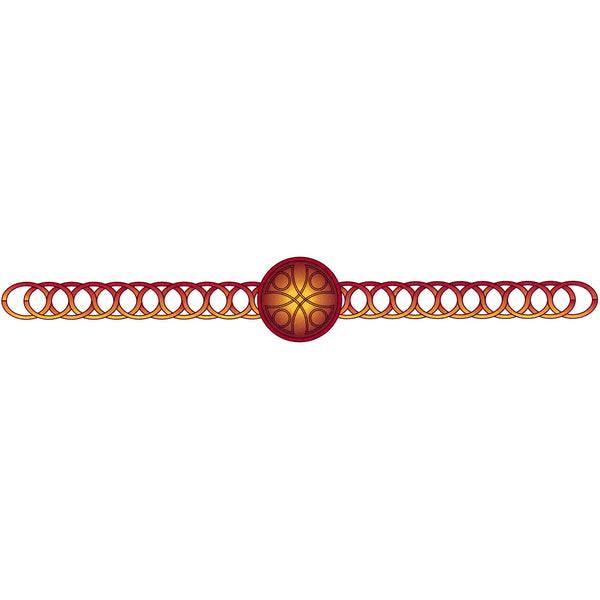 CELTIC DESIGN No. 2 Arm Band Temporary Tattoo 1.5x9