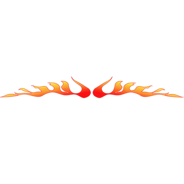 FIREY FLAMES Arm Band Temporary Tattoo 1.5 x 9