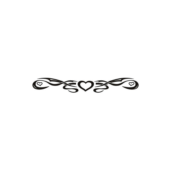 One Heart Arm Band Temporary Tattoo 1x6