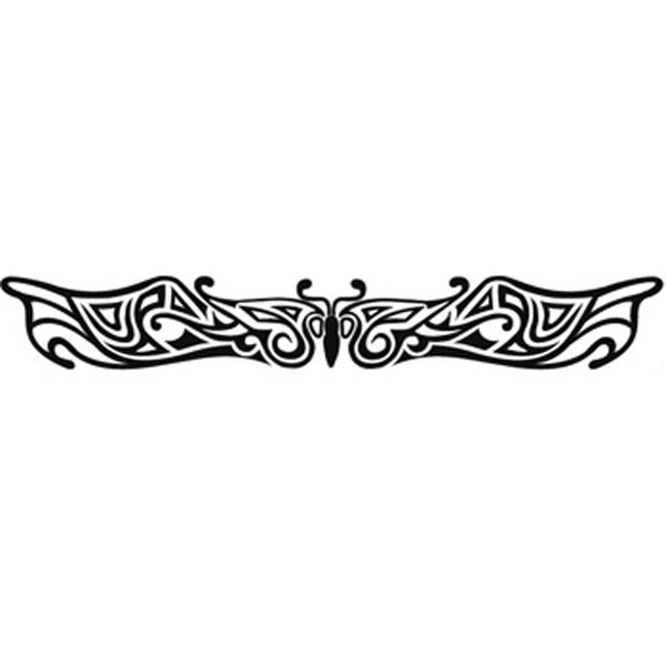 BUTTERFLY DESIGN No. 2 Arm Band Temporary Tattoo 1x6