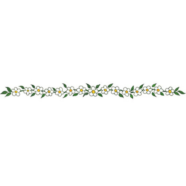 FROSTED FLOWER Arm Band Temporary Tattoo 1.5x9