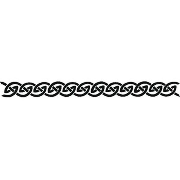 MUTED CELTIC DESIGN No. 2 Arm Band Temporary Tattoo 1.5x9