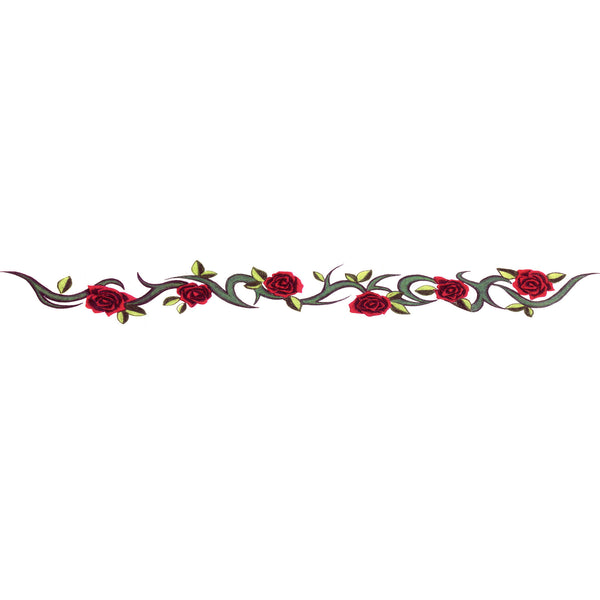 TRIBAL ROSE Arm Band Temporary Tattoo 1.5x9
