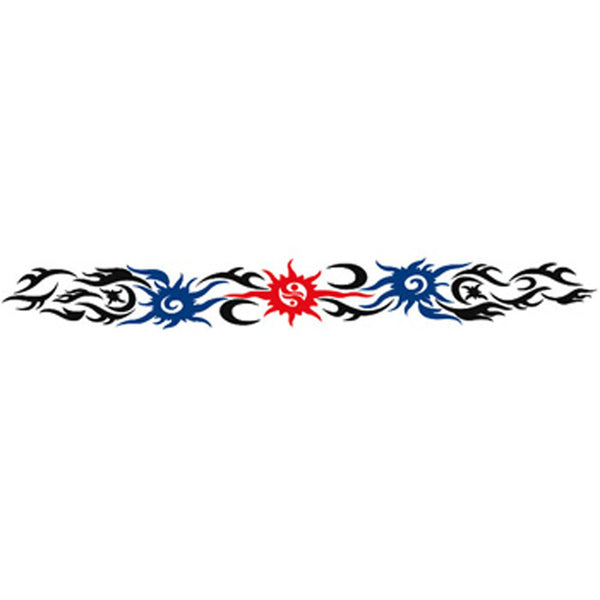 CHINESE SUN and MOON Arm Band Temporary Tattoo 1.5x9