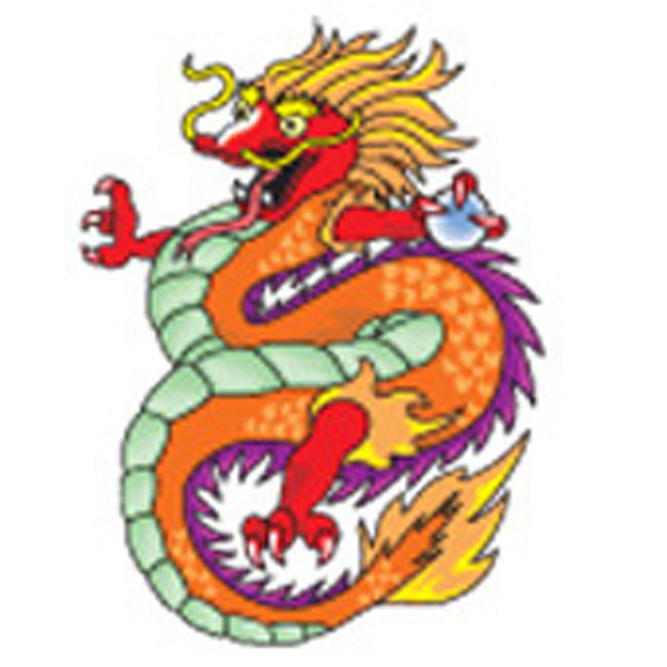 CHINESE DRAGON Temporary Tattoo 1.5x2