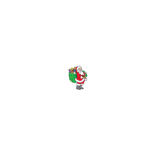 Santa with Bag Temporary Tattoo 1.5x2