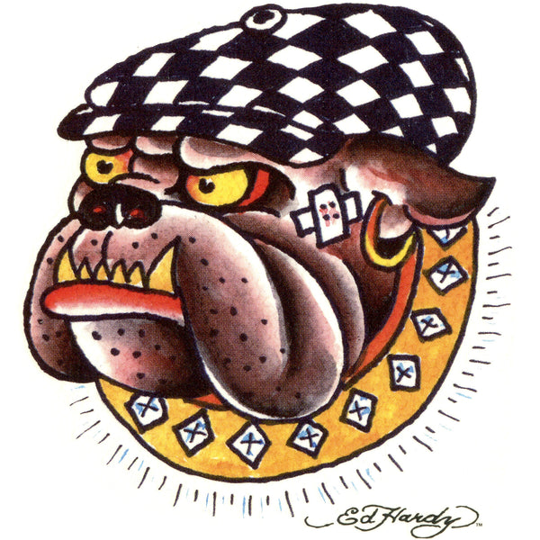 Ed Hardy Bulldog Temporary Tattoo