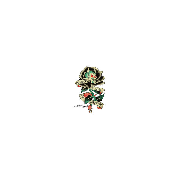 Ed Hardy Black Rose of Death Temporary Tattoo