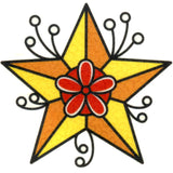 Orange Star Temporary Tattoo 2x2