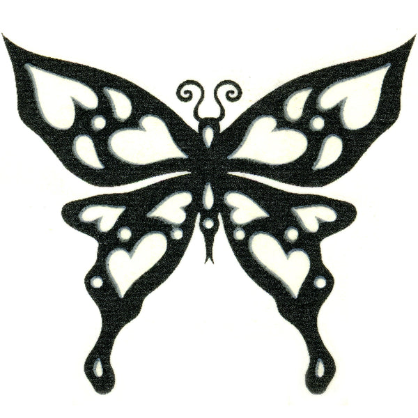 Tribal Butterfly Glow-n-Dark Temporary Tattoo 2x2