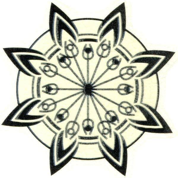Tribal Flower Glow-n-Dark Temporary Tattoo 2x2