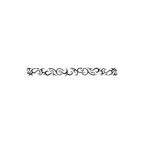 No. III Tribal  Glow-n-Dark Arm Band Temporary Tattoo 1x6