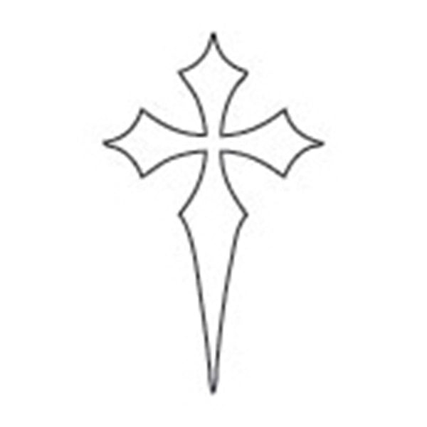 Black Cross Glow-n-Dark Temporary Tattoo 1.5x2