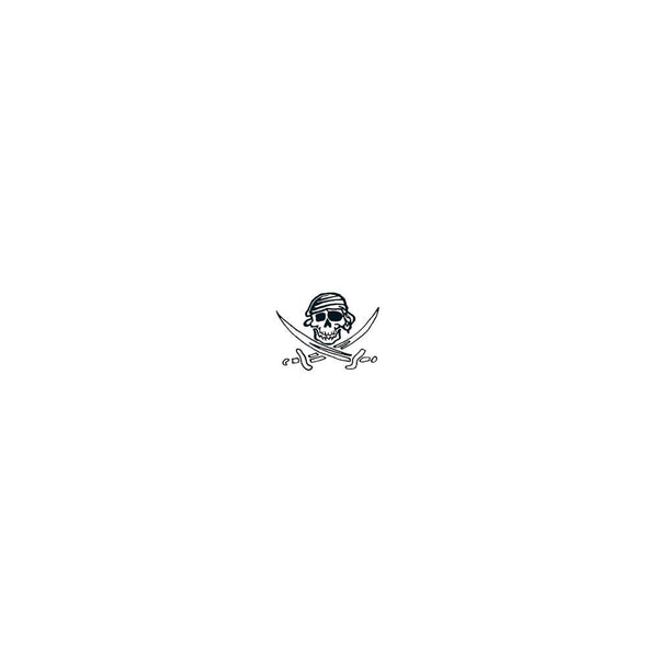 Pirate Skull and Swords Glow-n-Dark Temporary Tattoo 1.5x2