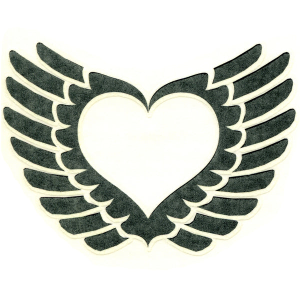 WINGED HEART Temporary Tattoo 3x3
