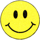 SMILEY FACE Glitter Temporary Tattoo 2x2