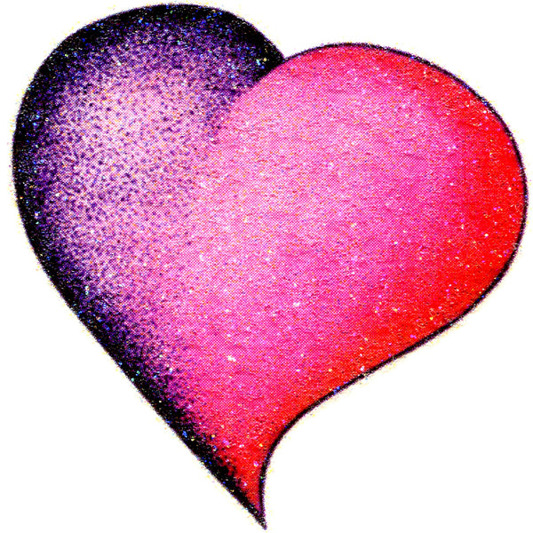 PINK HEART Glitter Temporary Tattoo 2x2
