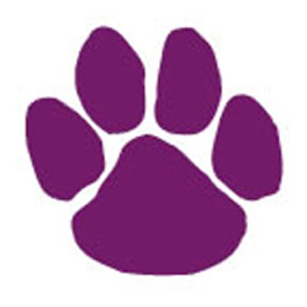 PURPLE PANTHER PAW Glitter Temporary Tattoo 2x2