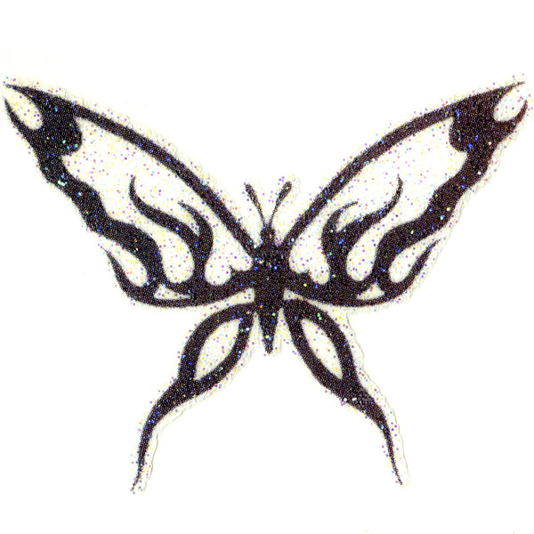 Butterfly Glitter Temporary Tattoo 2x2