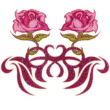 Pink Rose Glitter Temporary Tattoo 2.5x3.5