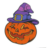 Pumpkin Witch Temporary Tattoo 2x2