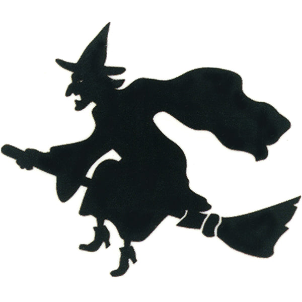 Black Witch on a Broom Temporary Tattoo 2x2