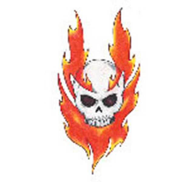 FIRE and SKULL 1 Temporary Tattoo 2.5x3.5