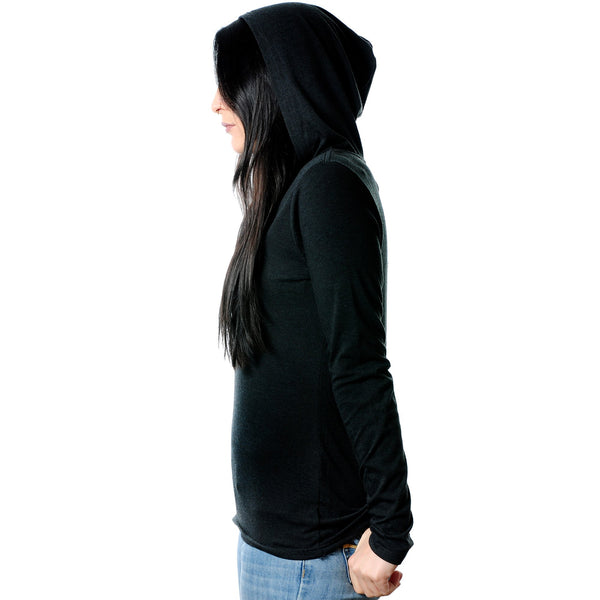 Modified Ear Heart Tapered Long Sleeve Hoodie
