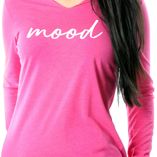 Mood Black Tapered Long Sleeve Hoodie