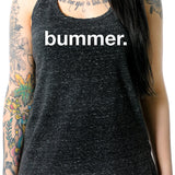 Bummer Black Gray Cosmic Twist Back Tank Top