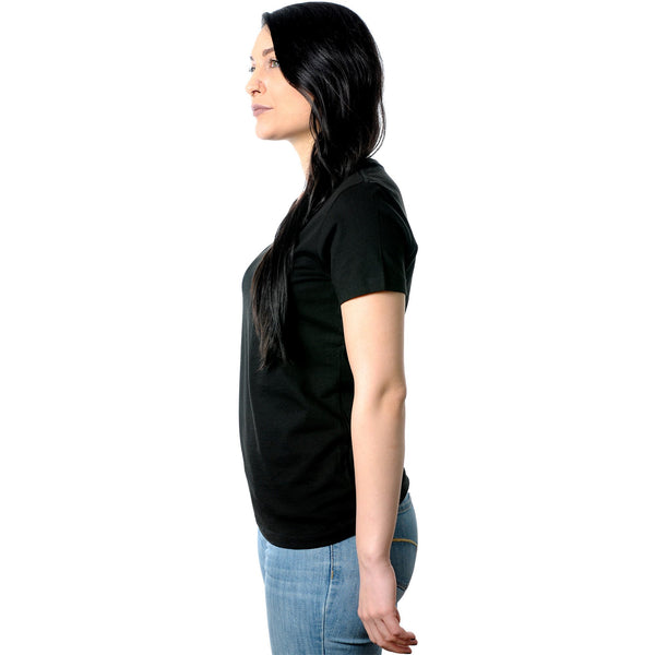 Meh. Black Tapered V-Neck Tee Shirt