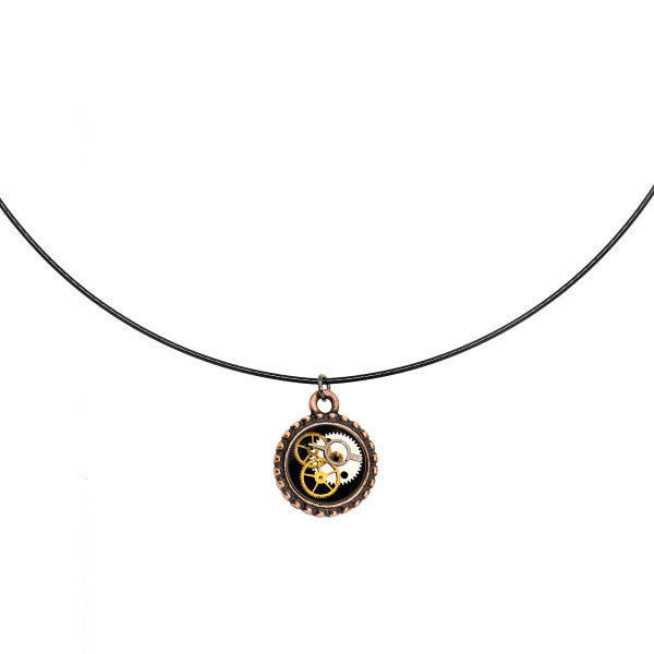 Handcrafted Steampunk Pocket Watch Movement Choker Necklace